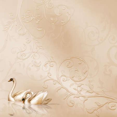 Tarjeta elegante con una hermosa boda de diseño Foto de archivo - 4771498