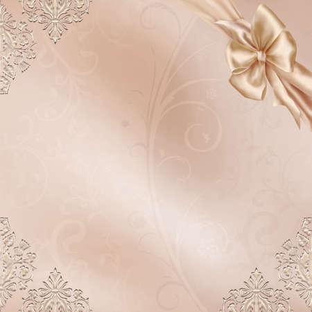 Elegant Card with a beautiful Wedding Design Stock Photo - 4771496