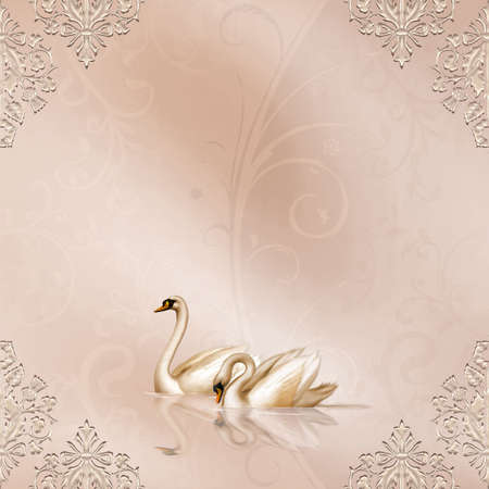 Elegant Card with a beautiful Wedding Design Stock Photo - 4771497