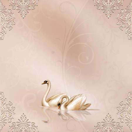 Tarjeta elegante con una hermosa boda de diseño Foto de archivo - 4771497