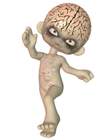 stare: The Brain - Toon Figure Stock Photo
