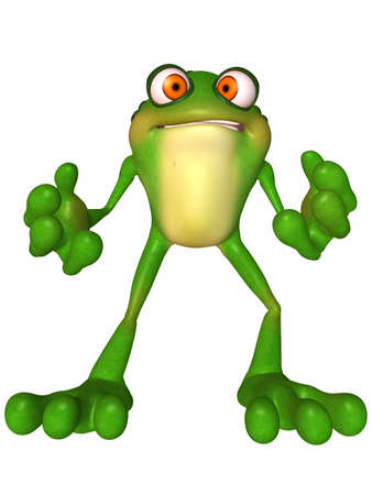 reptil: Toon Frog Stock Photo