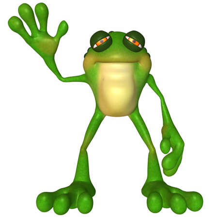 Toon Frog Stock Photo