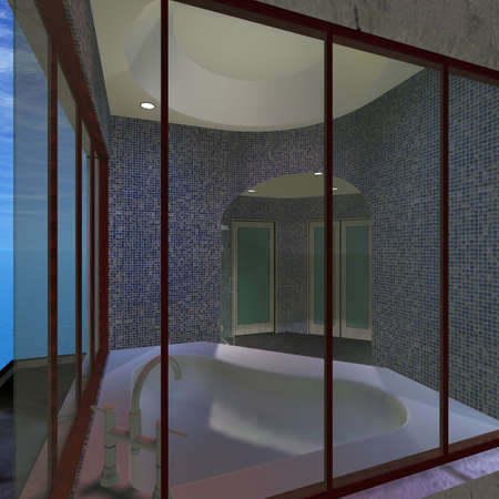 Modern House-Master Bathroom Stock Photo - 4818749