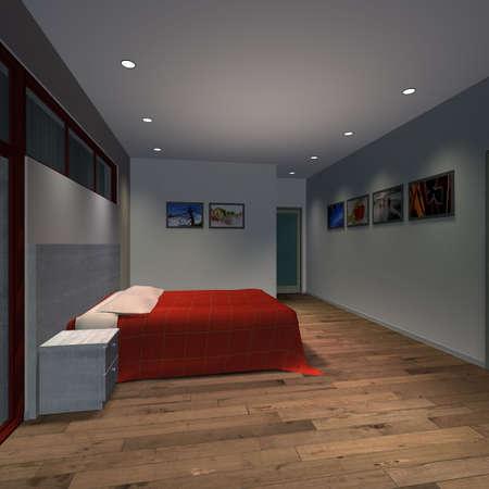 upscale: Modern House-Master Bedroom
