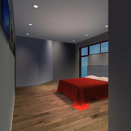 Modern House-Master Bedroom photo