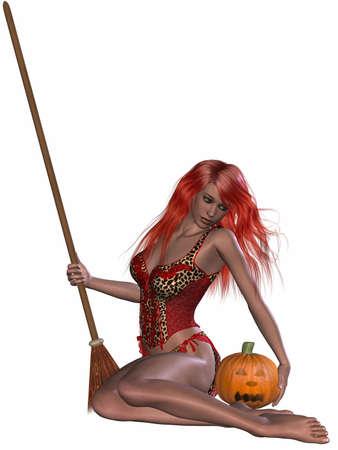 Sexy Witch Stock Photo