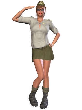 coy: Army Pinup Girl