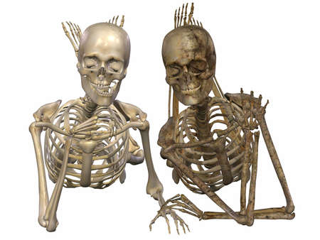 real people: 3 D Skeletons - Friends for ever