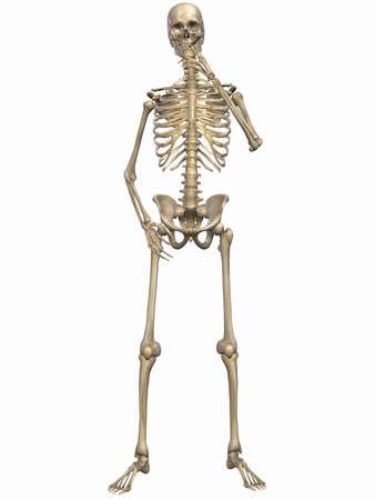 esqueleto humano: Pone en peligro la salud de humo Foto de archivo