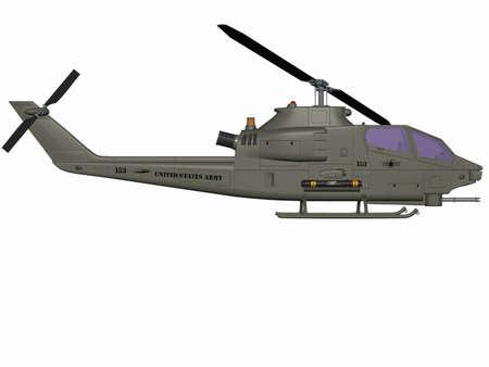 the air attack: AH 1 SS Cobra Stock Photo