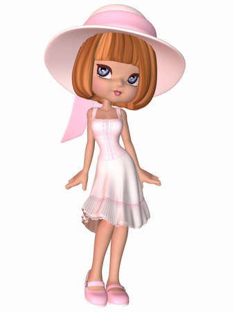 Cute Toon Girl Stock Photo - 5167953