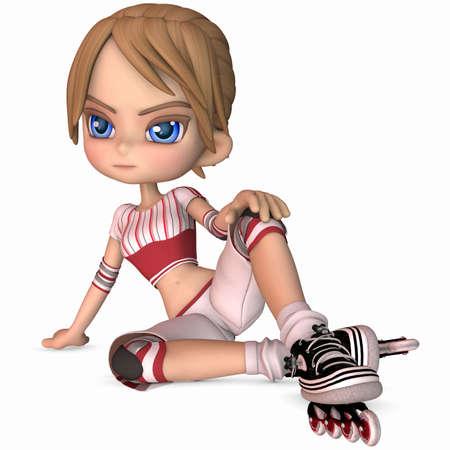 Cute Skater - Toon Figure