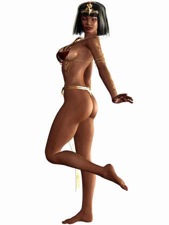 arrogancia: Reina de la nil - egipcio figura 3D Foto de archivo