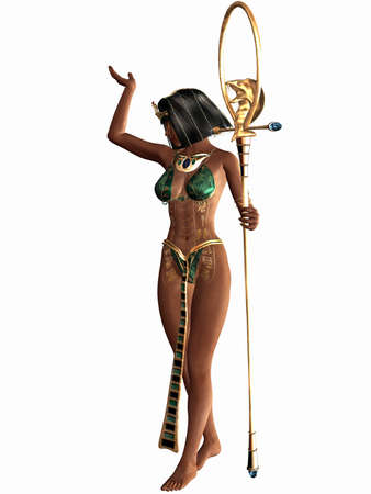 egyptian woman: Queen of the Nil - Egyptian 3D Figure