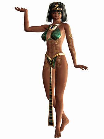 arroganza: Queen of the Nil - Egyptian Figura 3D Archivio Fotografico