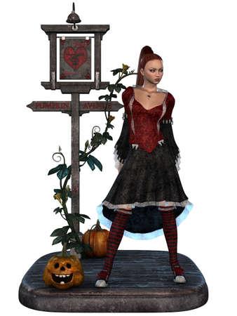harmonous: Halloween Witch Stock Photo