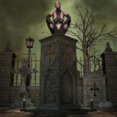 terrific: Vampire Hunter - 3 D Render of an Halloween Scene
