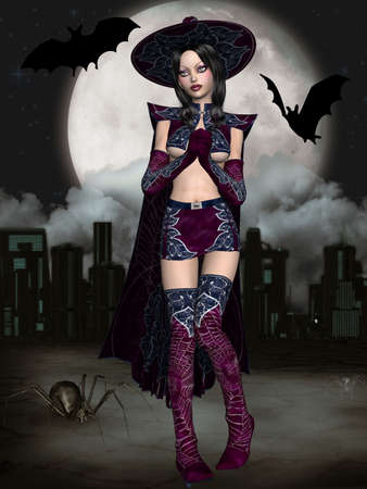 entertainer: Halloween Witch Stock Photo