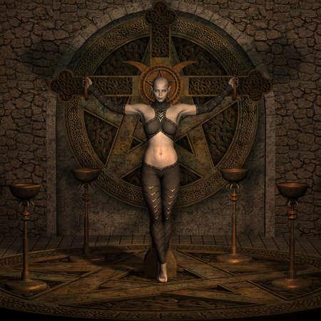 Vampire Hunter - Halloween-Abbildung  Standard-Bild - 5500780