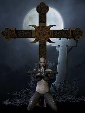 Vampire Hunter - Halloween Figure Stock Photo - 5500770