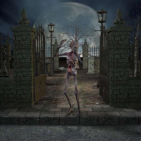 Zombie - Halloween Scene photo