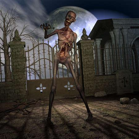 Zombie - Halloween Scene Stock Photo