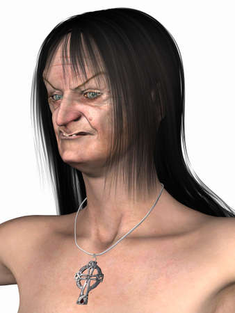 mujer fea: Bruja