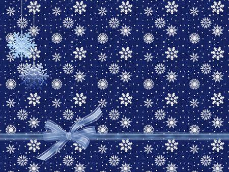 Blue Christmas Card photo