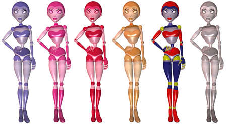 robot girl: Toon Robot Girl