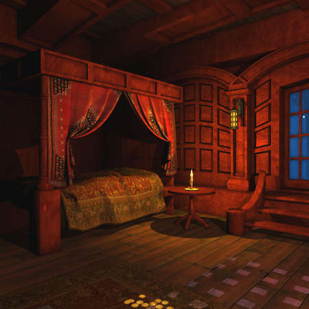 luxurious: Pirate Captains Cabin