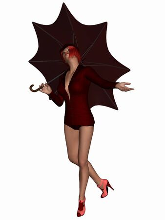 sexually: Singing in the Rain - Beauty with Umbrella
