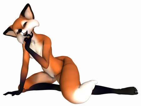 Cute Toon Figure - Fox Stock Photo