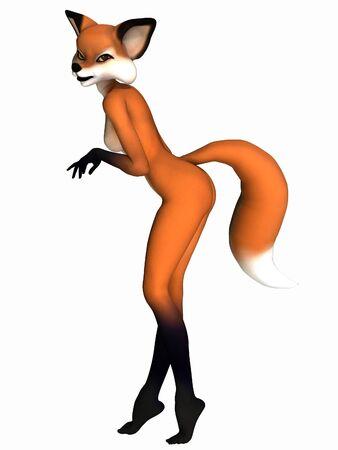 Cute Toon Figure - Fox Reklamní fotografie