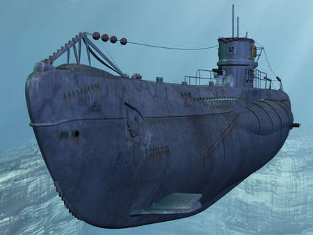 U99-German Submarine from the Worldwar II Stock Photo