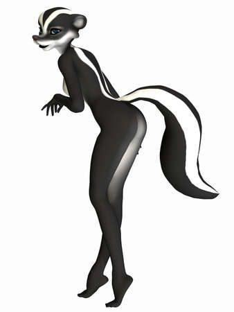 Cute Toon Figure - Skunk photo
