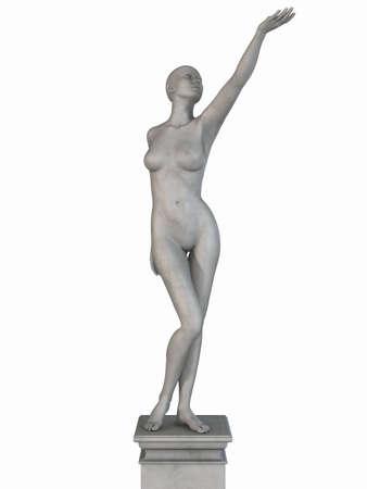 roman empire: Female Stone Statue Stock Photo