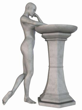 homer: Female Stone Statue Stock Photo