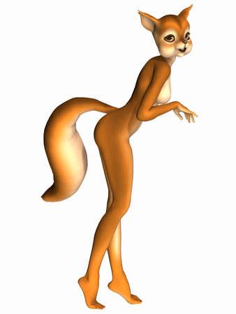 Cute Toon Figure - Squirrel photo