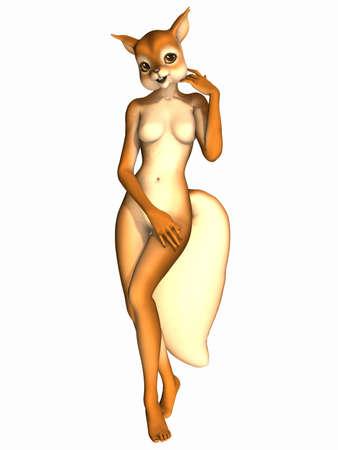 Cute Toon Figure - Squirrel Stock Photo - 6899791