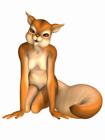 Cute Toon Figure - Squirrel Stock Photo - 6899800