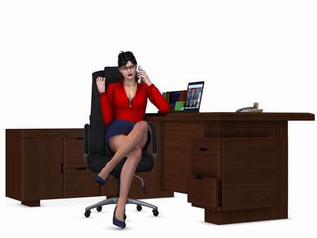 sexually: Sexy Office Girl Stock Photo