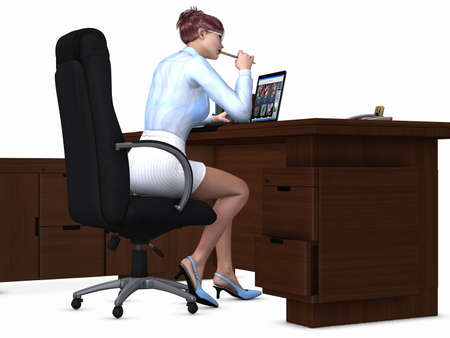 Sexy Office Girl Stock Photo - 6925998
