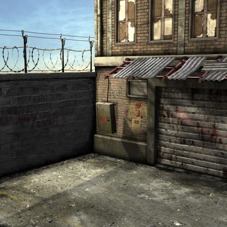 Dead End Alley Scene photo