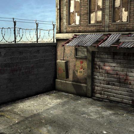 in disrepair: Dead End Alley Scene