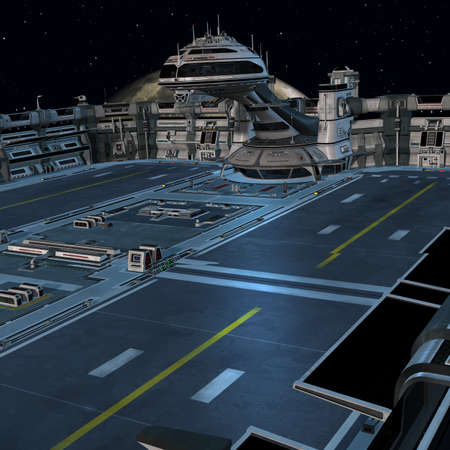 space station: Futuristic space station