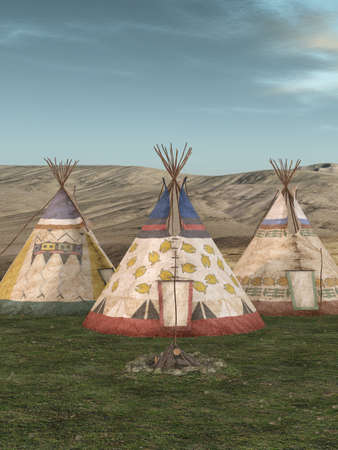 Traditional teepee village
