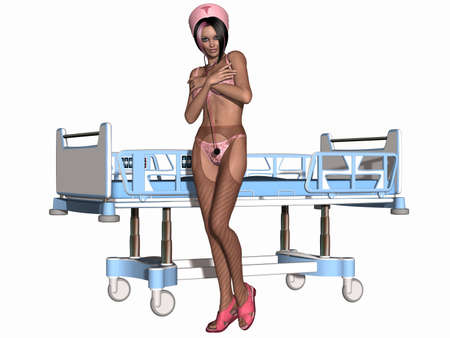hospice: Sexy Nurse Stock Photo