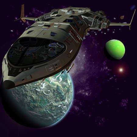 shuttle: Futuristische Spaceship