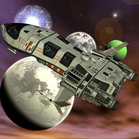 Futuristic Spaceship Banque d'images